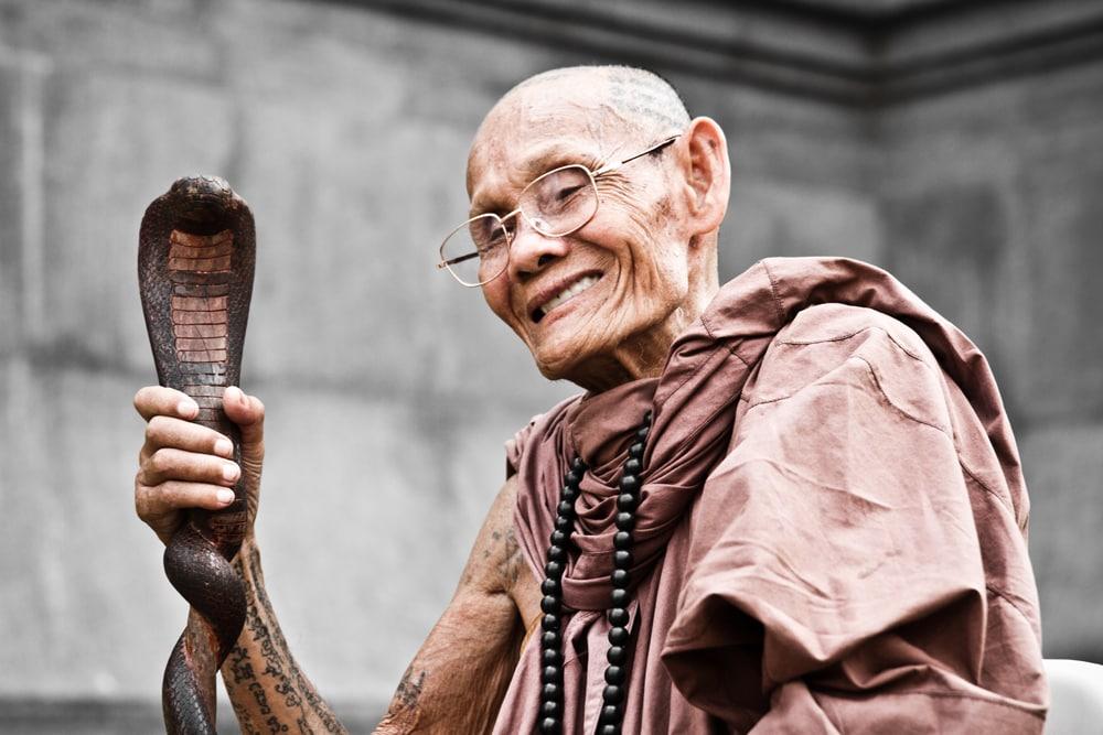 Mönchen in Bangkok