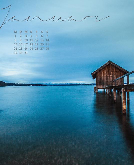 kostenloser Kalender Ammersee