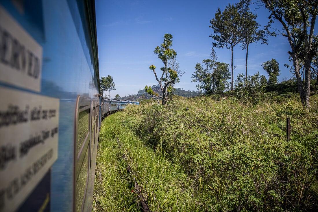 Zugfahrt durch die Teeplantagen in Ella