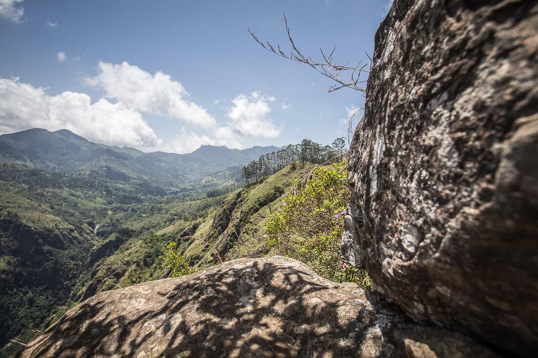 Ausblick auf die Landschaft von Sri Lanka