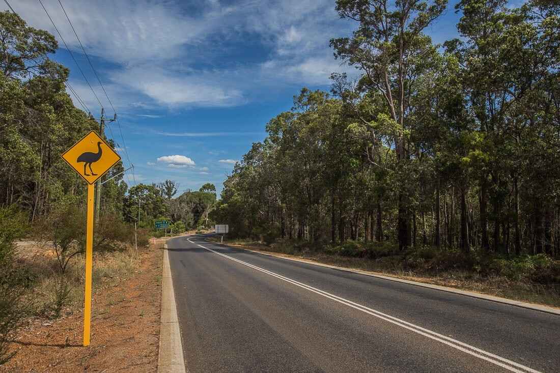 Emu Roadsign in Australien