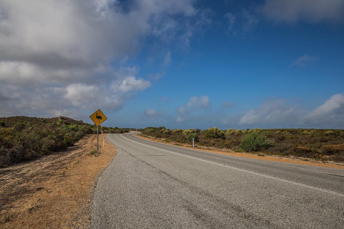 Roadsign Australien Emu