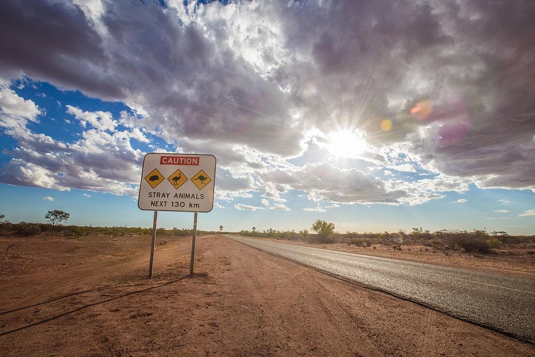 Sonnenuntergang im austalischen Outback
