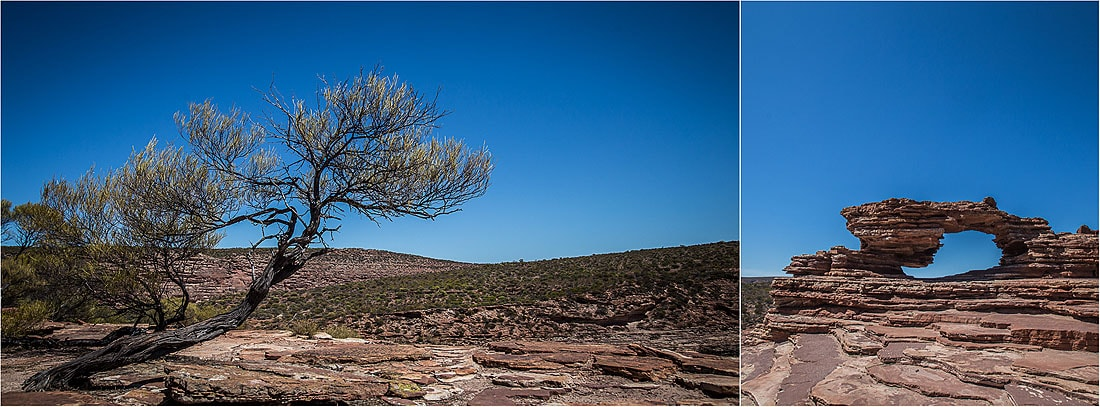 Blick auf Natures Window im Kalbarri Nationalpark