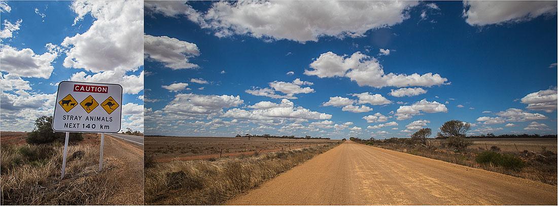 Straße Outback Australien