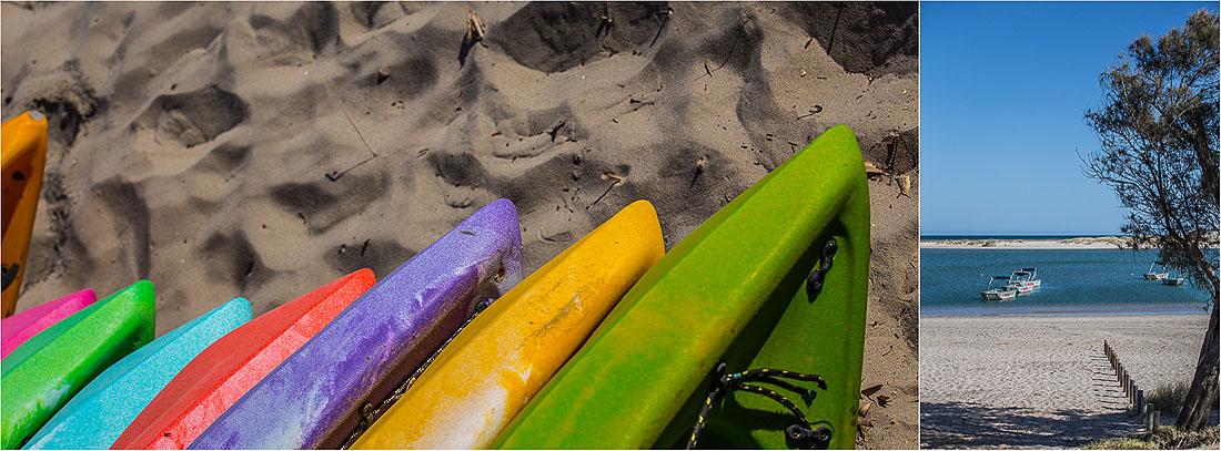Kanus am Strand von Kalbarri