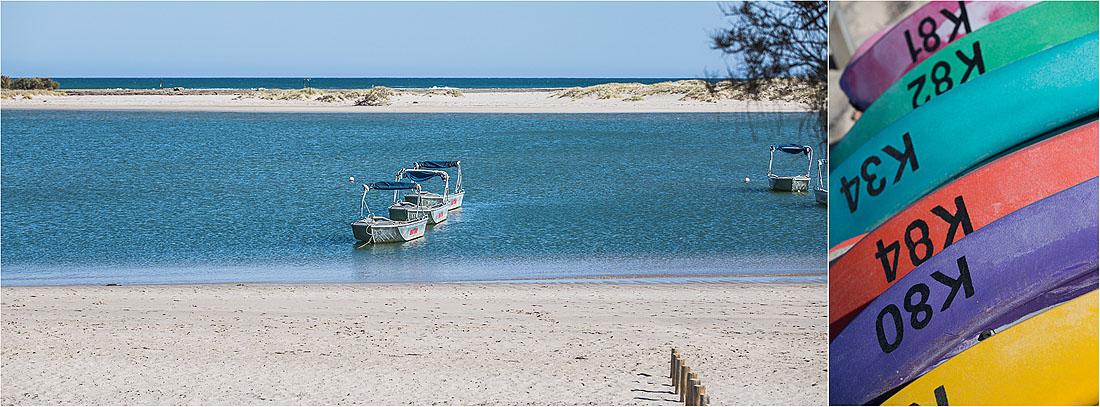 Boote am Strand von Kalbarri